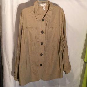 Lucy & Laurel linen 3x jacket worn once